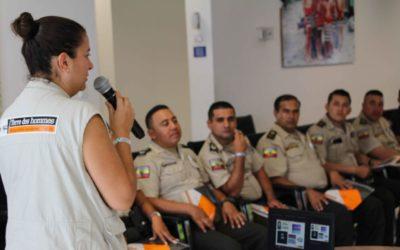 Operadores de justicia, miembros de la Policía Nacional y funcionarios del SNAI en Ecuador son capacitados en Justicia Juvenil Restaurativa