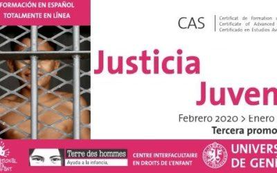 Tdh y la Universidad de Ginebra abren las matriculas para el Curso de Estudios Avanzados (CAS) en justicia juvenil 2020